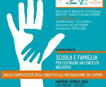 2 aprile 2019 a Modena: Seminario di formazione sull'Autismo