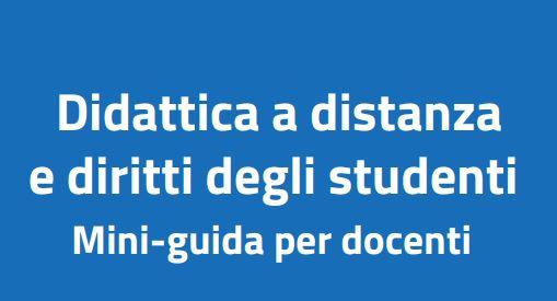 MIUR: Miniguida per docenti su didattica a distanza e diritti